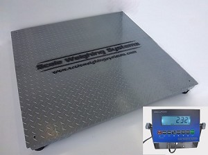 Scale Weighing Systems, SWS-7620DFS-LCD Digital Floor Scale